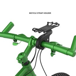 Silicone Pop Phones Australia - Pop Silicone Bicycle Phone Holder Stand For 5.6-6.0 Inch Mobile Holder Flexible GPS Bike Handlebar Mount Bracket