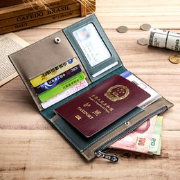 ticket wallets Australia - Charm2019 Leather Genuine More Function Certificates Bag Male Ma'am Go Abroad Travel Wallet Card Package Zipper Ultrathin Air Ticket Holder