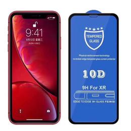 Cubierta completa 10D Edge de vidrio templado para iPhone X 7 8 8P 7P X XS XS Protector de pantalla Full Gule HD de XR Max XR en venta