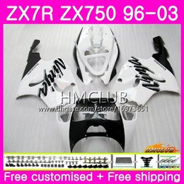 $enCountryForm.capitalKeyWord NZ - ZX-7R For KAWASAKI NINJA ZX750 ZX 750 7R 96 97 98 99 00 01 02 03 White Black 46HM.21 ZX7R 1996 1997 1998 1999 2000 2001 2002 2003 Fairing