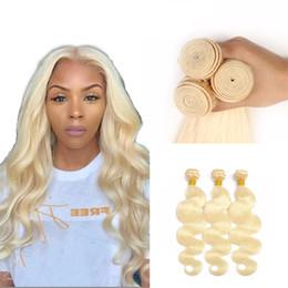 Cheap Human Hair Extensions 24 Inch Australia - 100% Remy Human Hair Weave Cheap Peruvian #613 Honey Blonde Body Wave Virgin Human Hair Extensions Free Shipping 10 - 24 Inch