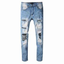 $enCountryForm.capitalKeyWord Australia - SS19 New model AI577 Arrive Skinny Water wash Motorcycle Jeans Desinger single cow thickened Slim paris quality plugs Men jeans