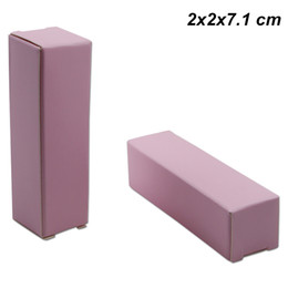 perfume packaging box UK - Pink 2x2x7.1 cm Kraft Paper Gifts Paper Board Crafts Lipstick Perfume Storage Box Card Board DIY Handmade Oil Bottle Lip Stick Packaging Box