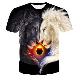 Wholesale newest summer t shirts online – design 2020 Newest Wolf D Print Animal Cool Funny T Shirt Men Women Short Sleeve Summer Tops Tee Shirt T Shirt Male Fashion tshirt Male XL