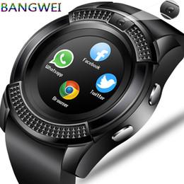 Smart Watch Phone Camera Australia - BANGWEI Men Women Smart Watch WristWatch Support With Camera Bluetooth SIM TF Card Smartwatch For Android Phone Couple Watch J190522
