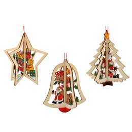 $enCountryForm.capitalKeyWord Australia - 3 Pieces 3D Wooden Christmas Xmas Tree Hanging Home Party Festival Ornaments