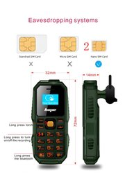 $enCountryForm.capitalKeyWord Australia - Bar phone small unlocked phones FM sim card stand by 0.66inch Bm60 cell phone with 2G network FM radio called bluetooth with box