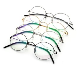b1024d09fb Titanium Glasses Frame Men Screwless Business Retro Myopia Round Korean  Eyeglasses Women Optical Prescription Brand design