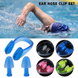 Swimming Nose Earplug Australia - 1 SET Men Women Soft Silicone Swimming Nose Clips + 2 Ear Plugs Earplugs Gear with a case box Set Pool Accessories Water