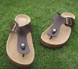 Black leather clogs online shopping - Designer Summer Flip Flops Clogs Slipper for men and women luxury beach cork Slippers sandals with a couple flip flops Mayari
