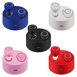 Wireless Headphones Mic Blue Australia - (new generation)TWS-F1 Wireless Headphones Invisible Earphone In-ear Stereo Music Bluetooth Headsets Hands-free w  Mic 450mAh Charging Box
