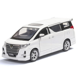 toyota toy car models NZ - Toyota Alphard Rowen 1 32 Scale Diecast Alloy Pull Back Car Collectable Toy Gifts