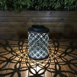 Wholesale Retro Outdoor Lantern Waterproof Hanging Solar Lantern Lights Metal Bronze Finished Portable Solar Lanterns Lamp Outdoor Garden Lights