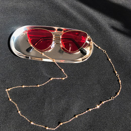 eyeglasses chains Australia - New Womens Eyeglass Chains Gold Silver Lady Sunglasses Lanyards Reading Beaded Women Glasses Chains Summer Lady Eyewear Rope