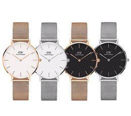 Wholesale Top Daniel Wellington fashion rose gold men mm ladies mm mm brand quartz waterproof couple watch gift stainless steel watch