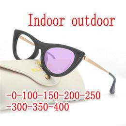 932fb607256b Women Sun Photochromic Finished Myopia Glasses Photosensitive Chameleon Anti -glare Change Color Lens Prescription Glasses FML