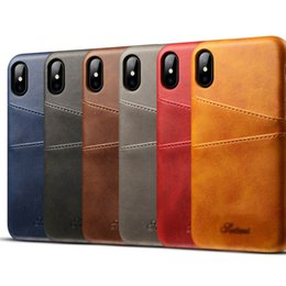 $enCountryForm.capitalKeyWord NZ - New fashion solid color element cellphone case for iPhone7 8 4.7 leather case calf pattern card mobile phone case for iPhoneX XS 6S 64.7