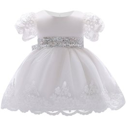 White Clothes For Baptism Australia - Girl Dress Lace White Baptism Dresses For Girls 1st Year Birthday Party Wedding Christening Baby Infant Clothing Q190518