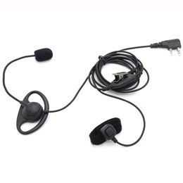 $enCountryForm.capitalKeyWord Australia - hones Telecommunications Walkie Talkie 2 Pin D Shape Earhook Earpiece Headset with Finger PTT + Mic for Kenwood BaoFeng UV-5R GT-3TP UV-8...