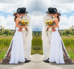 Plus Size Fancy Summer Dresses Australia - Camo Wedding Dresses Country Rustic Lace-up Bridal Fancy Gowns Unique Plus Size Sweep Train Bridal Dress robe de mariée