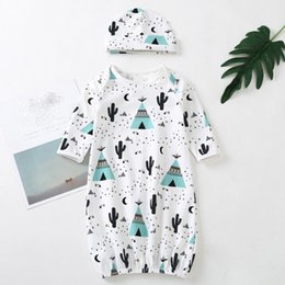 $enCountryForm.capitalKeyWord Australia - good quality Newborn Baby rompers 2PCs Blanket Swaddle Print Bag Kids Sleep Sack Stroller Wrap baby knit romper jumpsuit baby