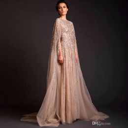 d43837793f52 2017 Sequin Dubai Abaya Formal Occasion Celebrity Dresses Arab Dubai Kaftan  evening gown Saudi Arabia Muslim Champagne Evening Party Dresses