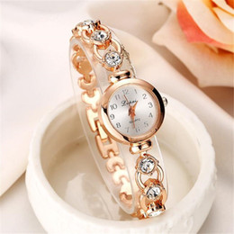 alarm clock bracelet NZ - Brand Luxury Women Bracelet Watches Fashion Women Dress Wristwatch Ladies Quartz Sport Rose Gold Watch Clock Relogio Feminino T190619