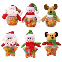 Decor Ornament Australia - Hot Sale Santa Claus Elk Snowman Candy Jars Container Christmas Ornaments Kids Gifts Holiday Party Table Decor