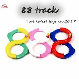 Discount plastic train track set - NEW Children Kids 88 Shape Infinite Loop Track Cure Hand Eye Coordination Exercise Training Equipment Sensory Integratio