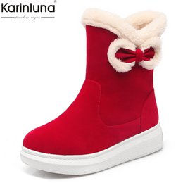 $enCountryForm.capitalKeyWord Australia - Women's 2019 Size 33-43 Warm Plush Fur Russia Winter Boots Woman Shoes Sweet Bow snow boots women Shoes Woman Female