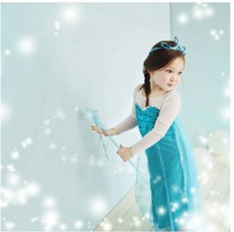 $enCountryForm.capitalKeyWord NZ - Girl Dress Baby Girl Party Dress Blue Color Princess Dress Princess Cosplay Girl Gift 5 p l