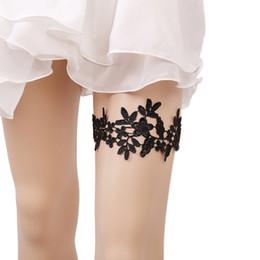 26bd0b4d3 Mulheres 2019 casamento Garter nupcial Legs Garter Set Black nupcial Garters  Lace Belt com Toss Away