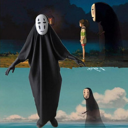 spirit masks 2019 - Anime Adlut Kids Unisex Spirited Away No face male Cosplay Costume Masks Gloves Halloween Party Costume cheap spirit mas