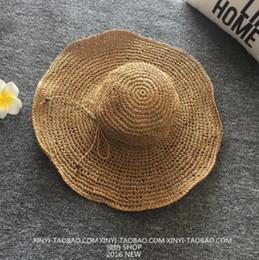 $enCountryForm.capitalKeyWord Australia - 2019 new hot trend casual Korean beach folding sunshade female summer vacation big sunscreen straw doll dome sun hat