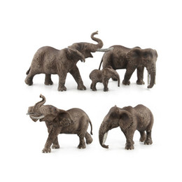 China GEEK KING Animal World Zoo animal model toys Figure Action Toy Simulation Animal Lovely Plastic elephant Toy For Kids suppliers