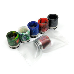 drip tip goon UK - Newest Colorful 810 Resin SS Drip Tip Wide Bore Mouthpiece Mouth Fit VAPE Goon 528 Kennedy 24 Battle Apocalypse RDA Pyro TFV8 TFV12 Prince