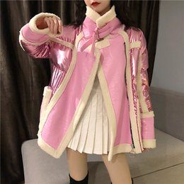 Wholesale Winter biker Loose Women Jacket Coat Korean Style faux Leather Women Coat Thick Warm Fur Clothes abrigos mujer invierno