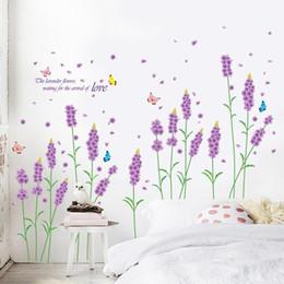 $enCountryForm.capitalKeyWord Australia - Lavender Wall Sticker Bedroom Decoration Romantic Living Room Sofa TV Background Closet Sticker decals for walls