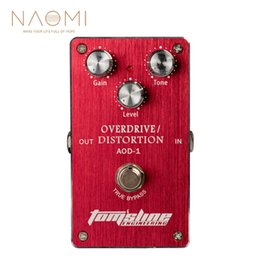 Overdrive Effects Pedal Australia - NAOMI AOD-1 Overdrive Distortion Electric Guitar Effect Pedal Aluminum Alloy Housing Ture Bypass NEW