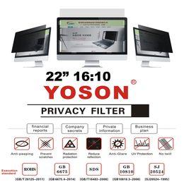 "More Anti Australia - 22"" Privacy Filter Anti Peep Film Screen Protectors for Widescreen Desktop Monitors 16:10 Ratio"