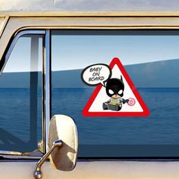 $enCountryForm.capitalKeyWord Australia - Little Superheroes Baby On Board Car-Styling Reflective Car Stickers Decals for ford focus vw golf 6 7 hyundai honda kia