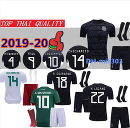 1d40bd3491b 2019 Gold Cup Mexico soccer jersey set uniform 19 20 CHICHARITO H.LOZANO  RAUL Camisetas de futbol 2018 World Cup Mexico football shirt kits
