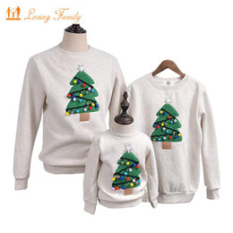 $enCountryForm.capitalKeyWord UK - Family Matching Outfits 2019 Winter Christmas Tree Family Look Mother Daughter Children Shirt Polar Fleece Warm Family Clothes J190517