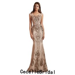 3bc20c29384b Champagne Sequins Mermaid Long dubai Women Evening Dress 2019 New Arrival  Elegant Lady luxury Evening Party Gowns Robe De soiree