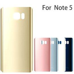 $enCountryForm.capitalKeyWord NZ - New Rear Battery Door For Samsung Galaxy Note5 N920 N920F Back GlassHousing Cover With Logo Note 5