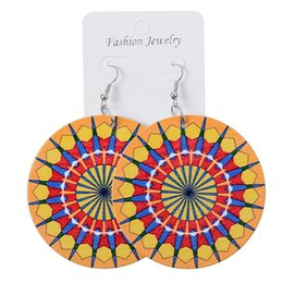 $enCountryForm.capitalKeyWord Australia - New Fashion Simple Variety Of Wooden Kaleidoscope Flowers Colorful Round Earrings Women Creative Kaleidoscope Flowers Colorful Round Earring
