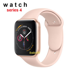 China Goophone iwatch4 44mm Smart watch Stainless Steel Series 4 Wireless Charging Bluetooth 4.0 Heart Rate for Android iphone X XR MAX smartwatch suppliers