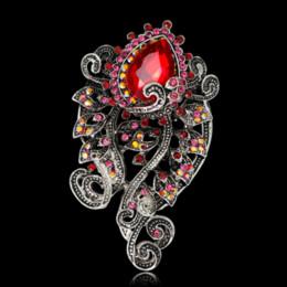 $enCountryForm.capitalKeyWord Australia - Earofcorn Exquisite Style Elegant Explosion Vintage Rhinestone Flower Brooches Clothing Accessories