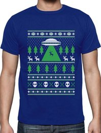 ugly christmas sweaters men Canada - Alien Reindeer Abduction Ugly Christmas Sweater T-Shirt XmasCartoon t shirt men Unisex New Fashion tshirt free shipping funny