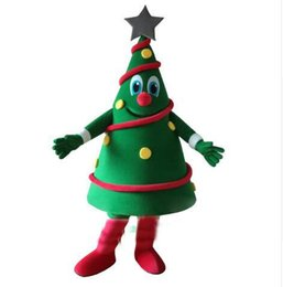 tree costumes NZ - Hot Sales Green Christmas Tree Mascot Costume EMS Free Shipping
